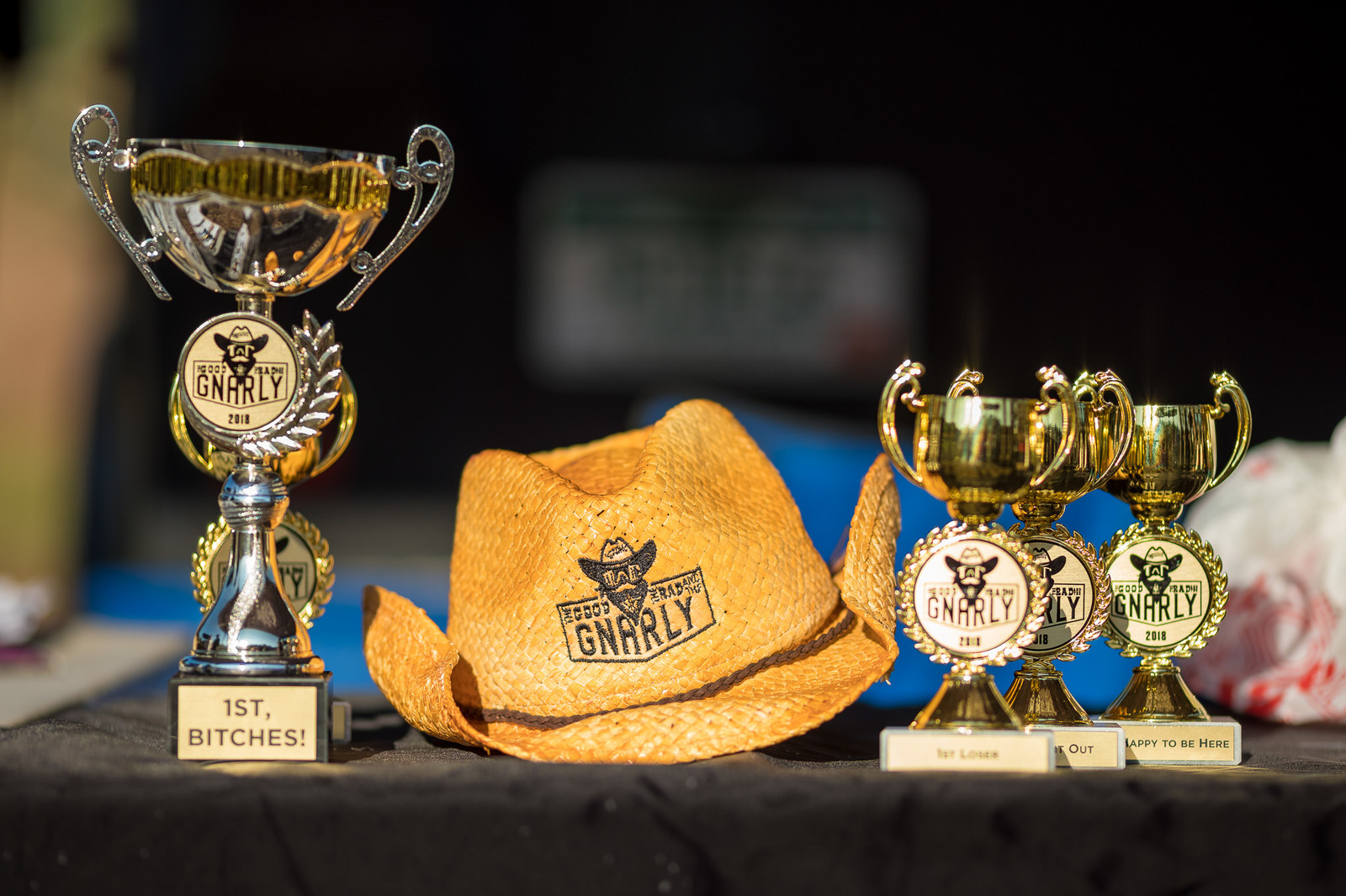 Everyone on the podium went home with a signature hat and trophy!