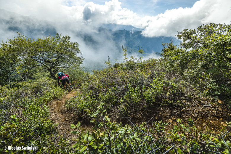 "Rider: Adam Craig on ""Punta de Piedra"" trail"