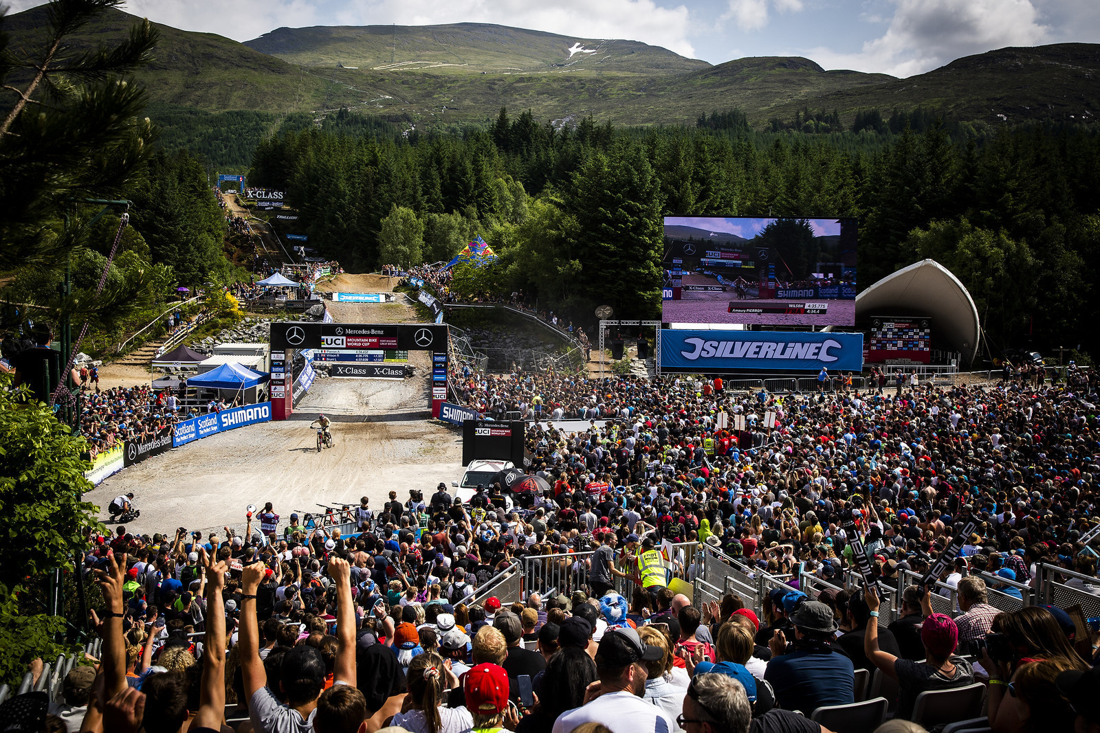 Fort William World Cup DH and its massive crowd. The spectators have flocked to the highlands for years to watch great racing.