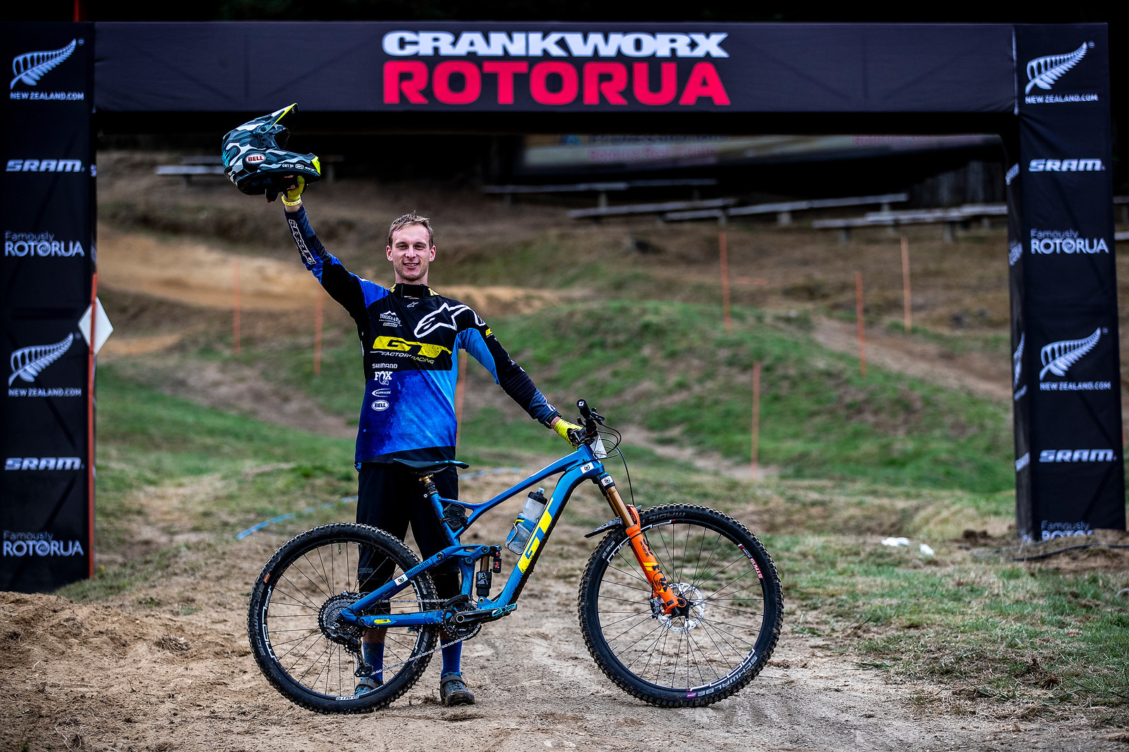 Martin Maes with his winning GT Force featuring a 27.5-inch rear wheel and 29-inch front.