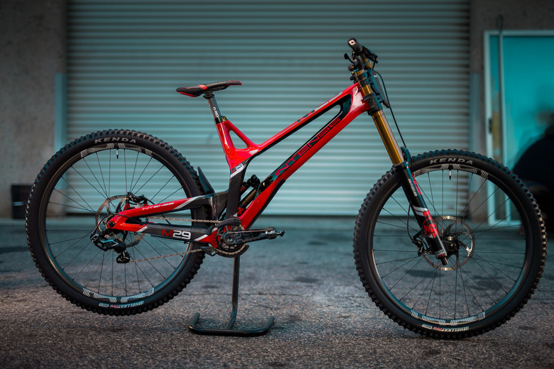 Aaron Gwin's size XL Intense M29 from the team launch in January.