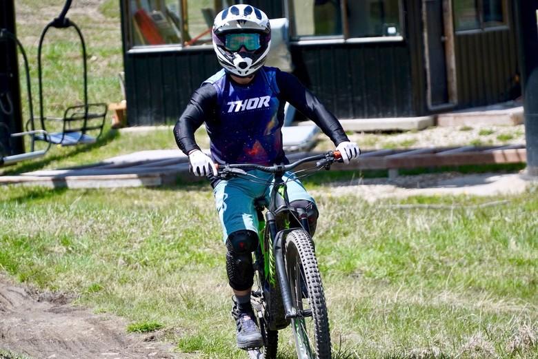 Yep, he's on an E-bike.
