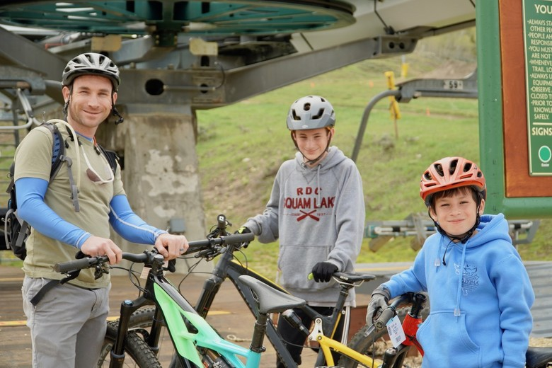 Kids rode free on opening weekend in Granby Ranch's celebration of IMBA's Take a Kid Mountain Biking Day.