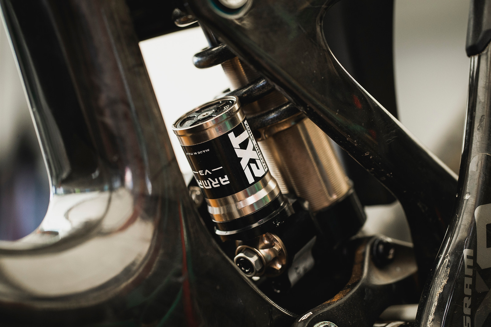 EXT shocks on Propain are custom tuned to each rider.