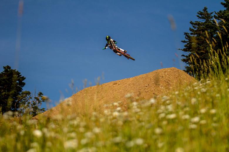Junior rider Keegan Rowley.