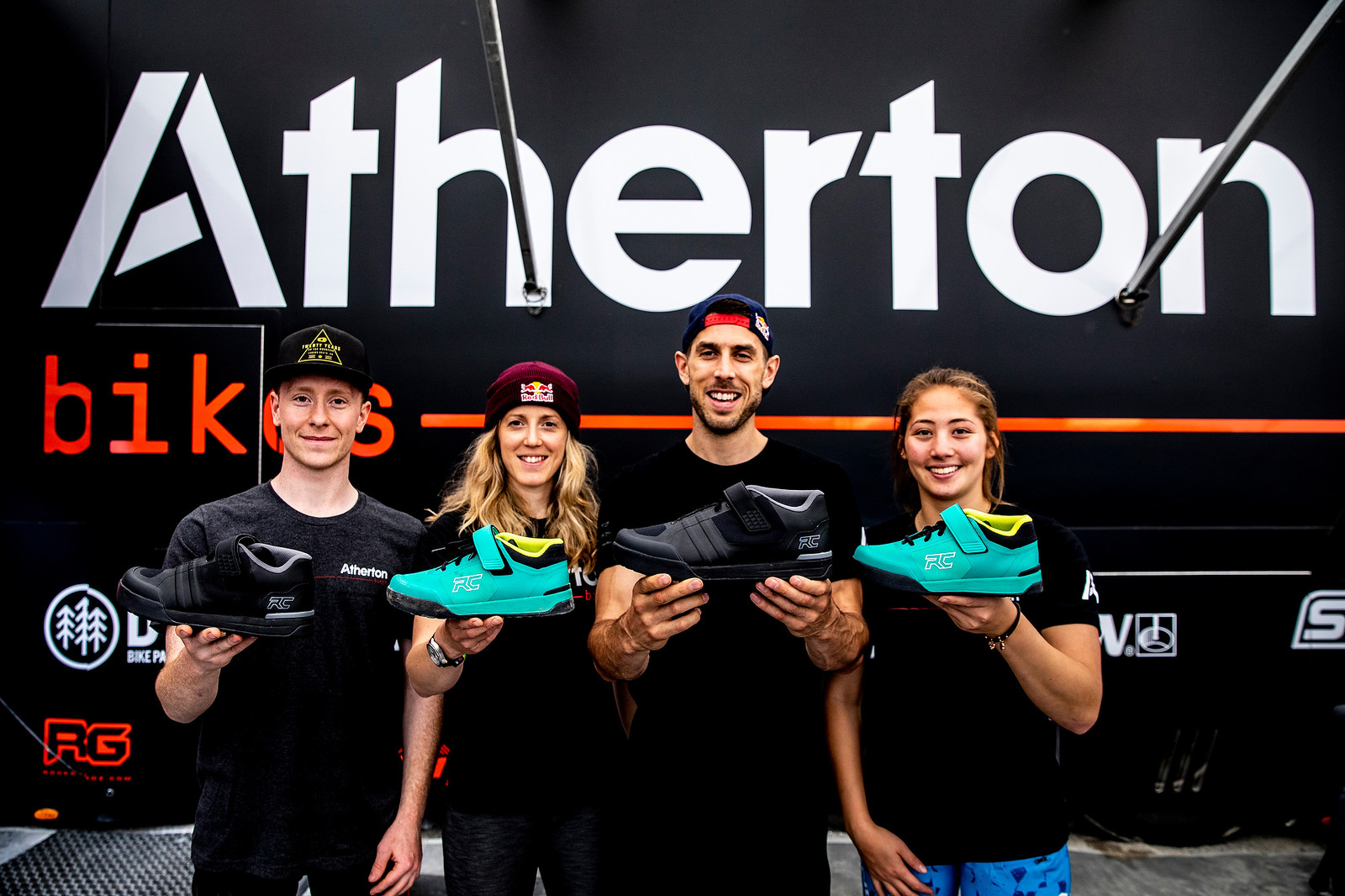 The Atherton Racing team with the Transition and Traverse.