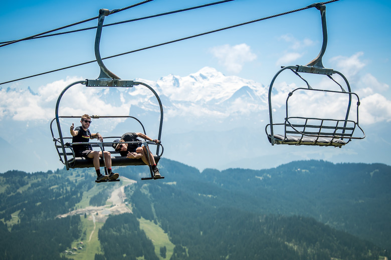 Speedy chairlifts to the rescue. If you are in trouble, we wouldn't recommend this form of transport.