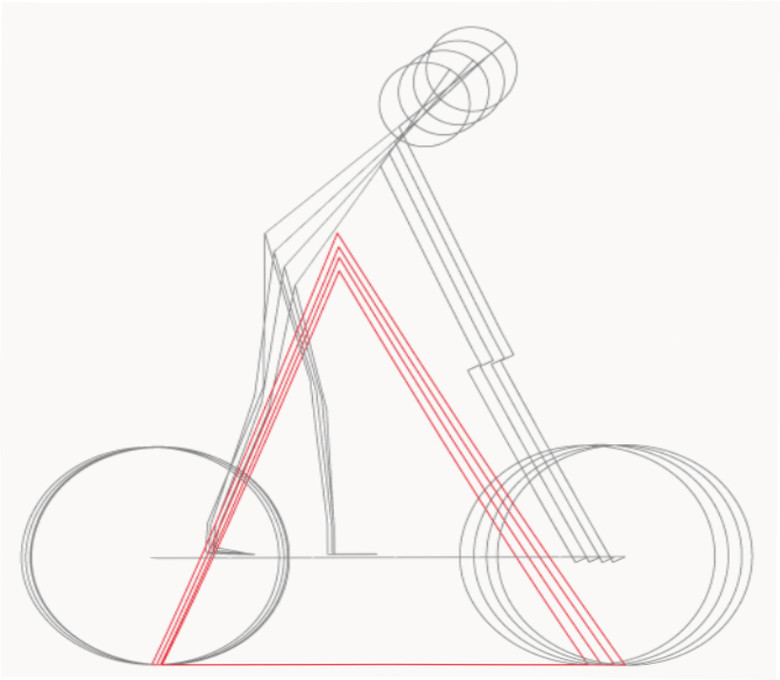Ride Aligned frame geometry places the rider's center of gravity – both seated and standing – at an optimum position for ideal weight distribution between the wheels for maximum grip and control. This means tack-sharp tire traction during the entire ride: whether grinding up or pinning it down.