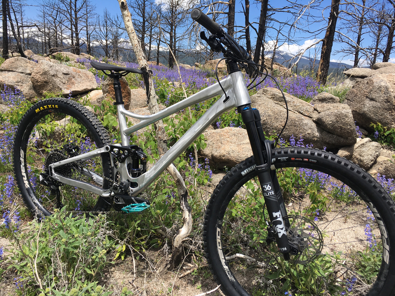 Banshee Sales Manager (and EX team USA DH racer) Michael Buell's prototype Prime V3 was tested high up in the stunning Colorado Rockies.