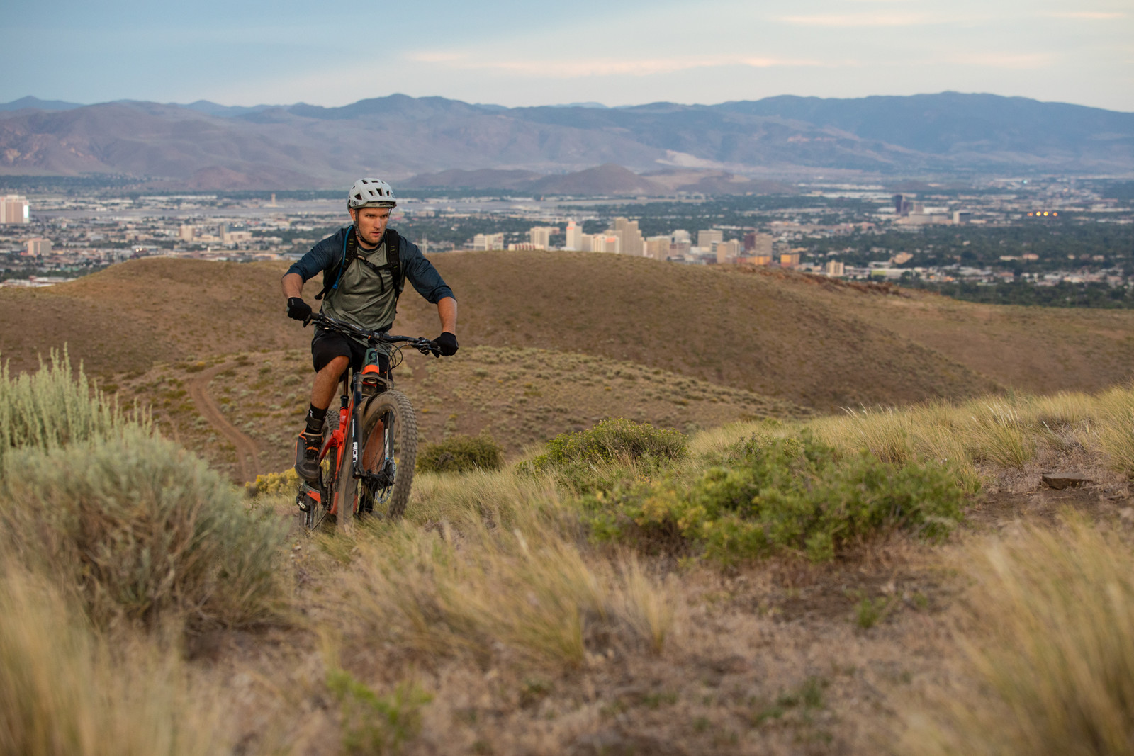 Paul riding his local trails in Reno, NV