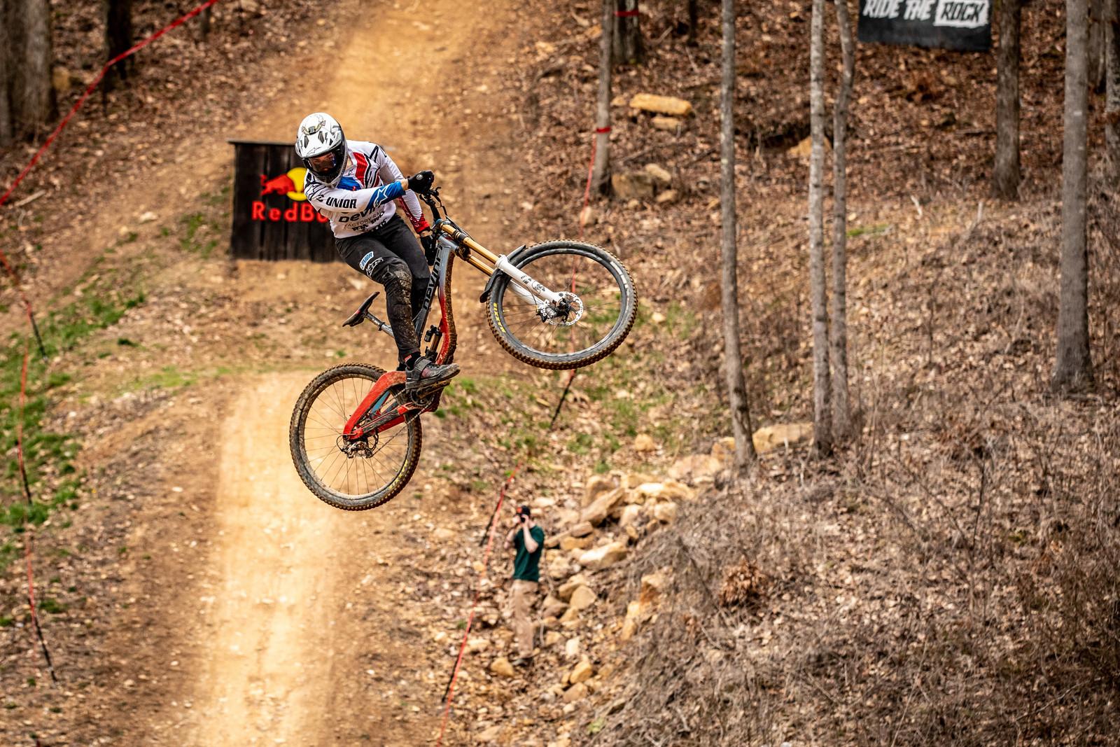 Dakotah Norton on track at Windrock.