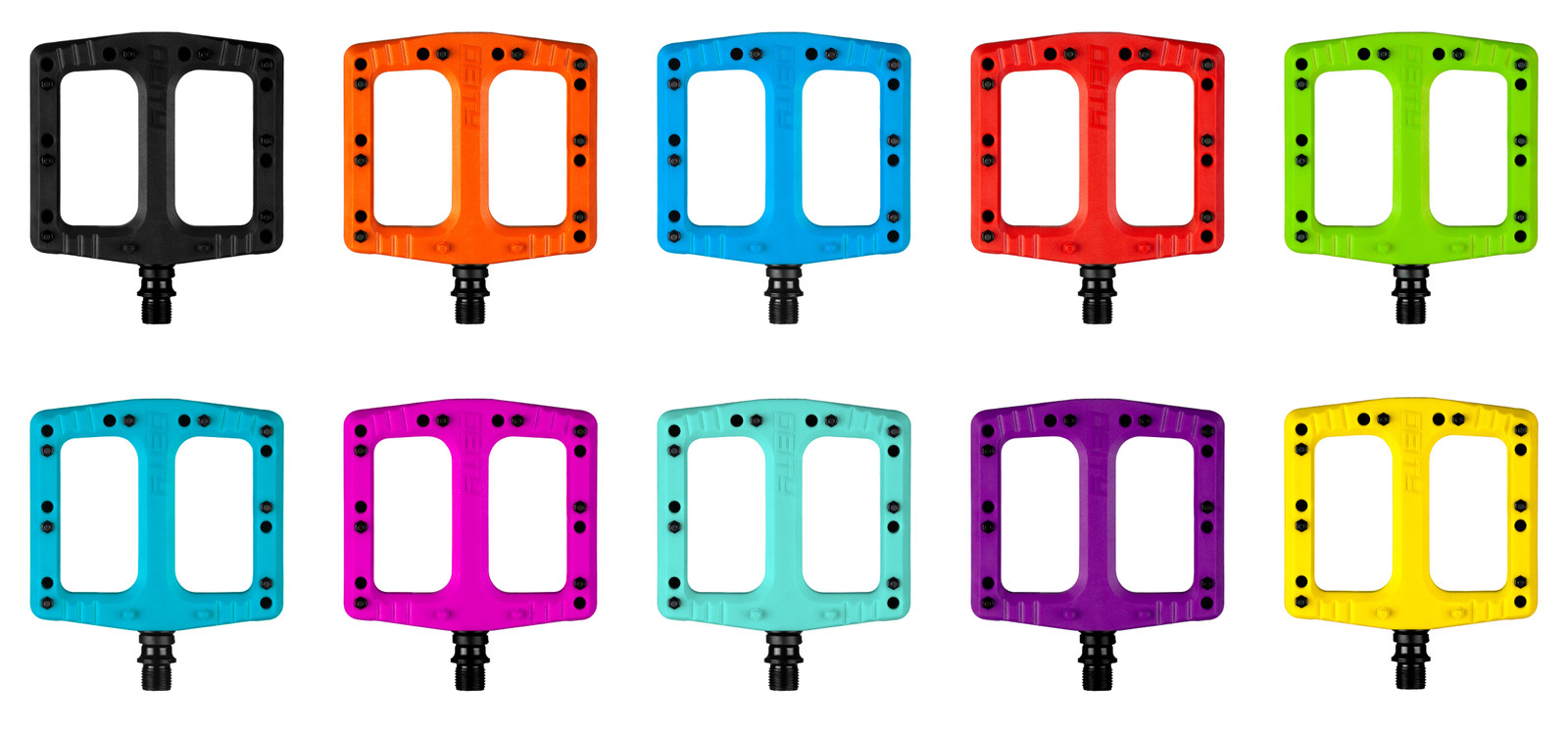 Full color range available in Black, Orange, Blue, Red, Green, Turq, Pink, Mint, Purple, and Shaolin Yellow