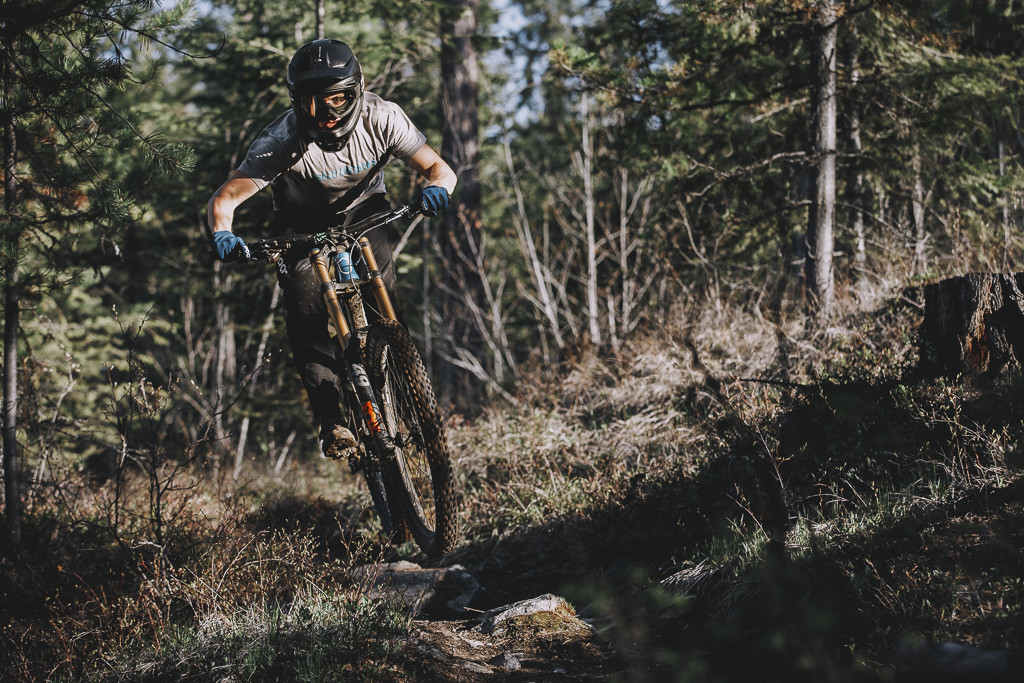 Emmett would prefer to spend more of his time on the DH bike but with no races yet and travel out of the question, he's been spending more time on his trail bike.