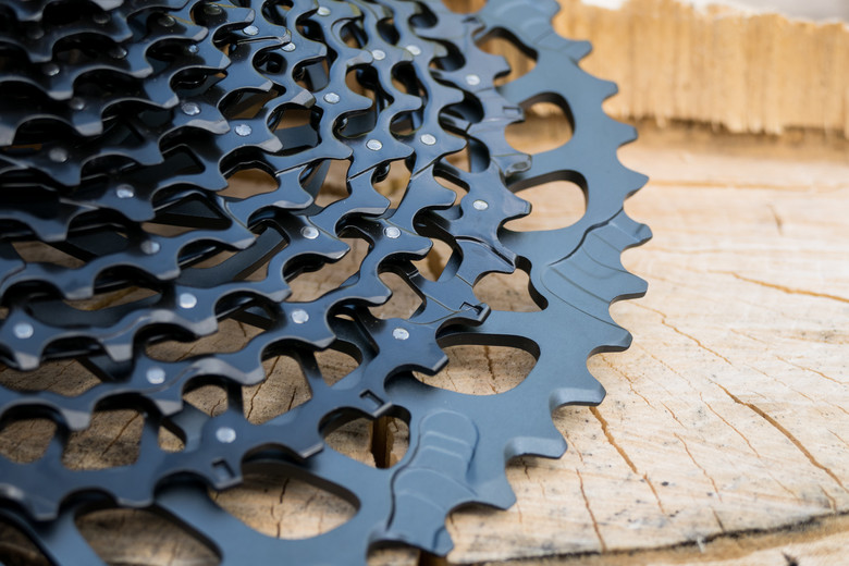 Note the revised ramp profile to help smoothly lift the chain to the 52-tooth cog.