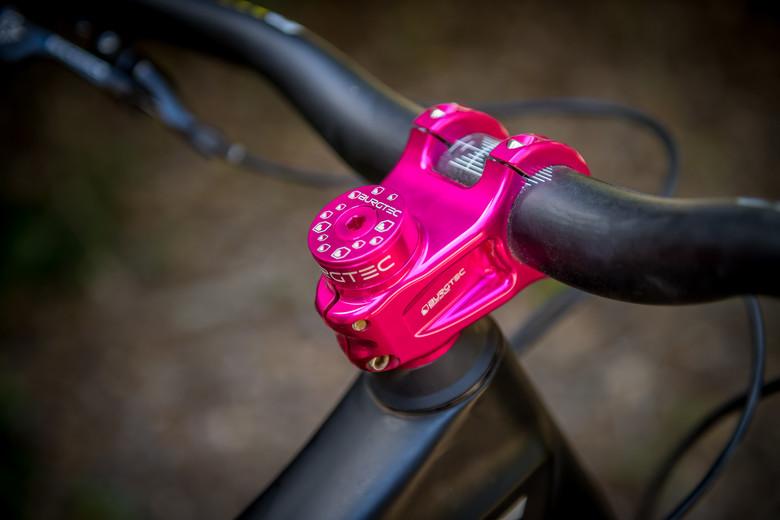 Toxic Barbie Pink Burgtec Stem Top Cap Bolt