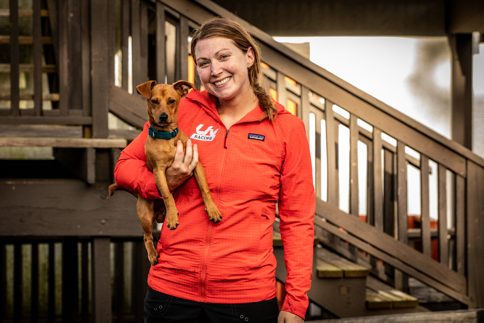 Caroline Washam and Chuppy.