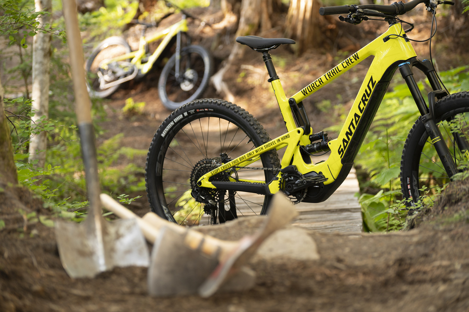 Santa Cruz Bicycles and RideWrap teamed up to donate two Hecklers with Tailored Protection to W.O.R.C.A.
