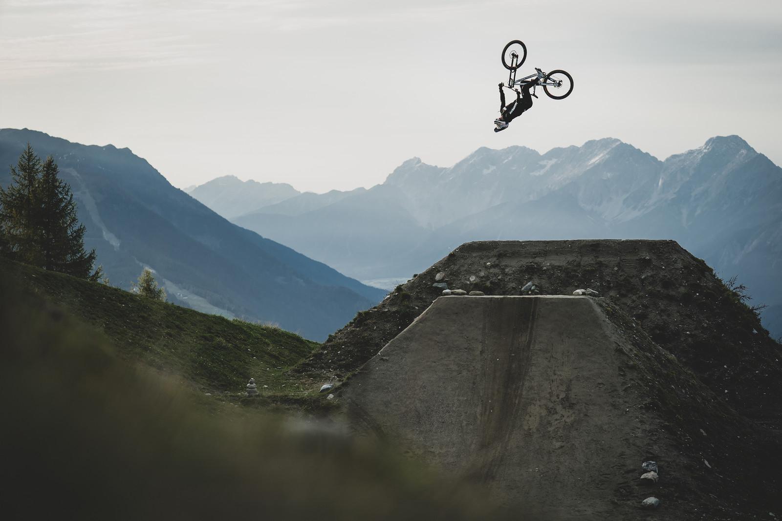Sending it over the Crankworx Innsbruck Whip-Off jump.