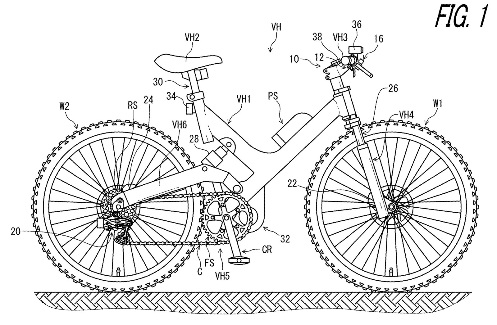 For some unknown reason Shimano are still using a bike from 1998 for their patent filings.