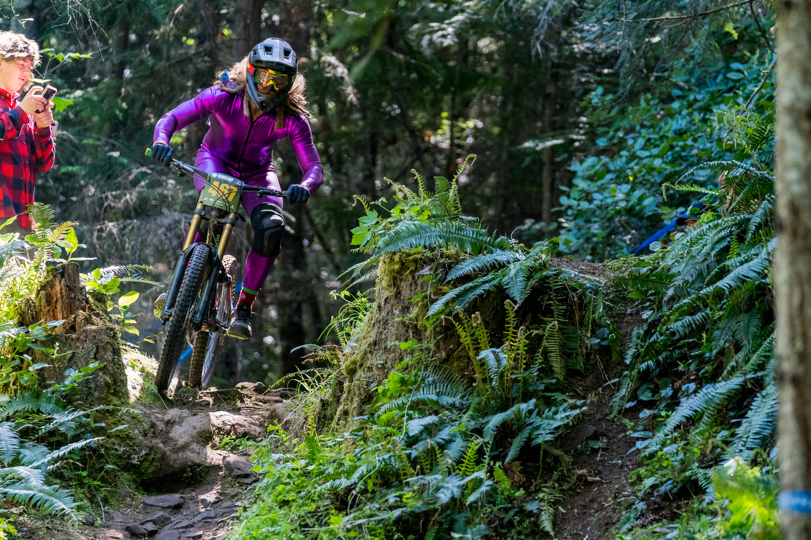 Blake Nelson with the UCI not approved purple skinsuit. NW Cup races are always a blast!