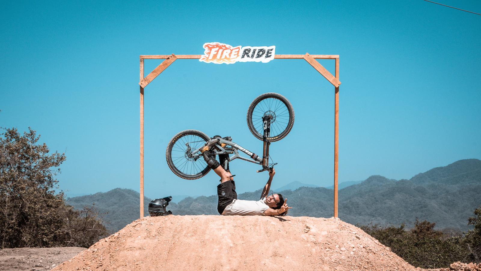 "Ryan Radriguez riding a 29"" Santa Cruz V10"