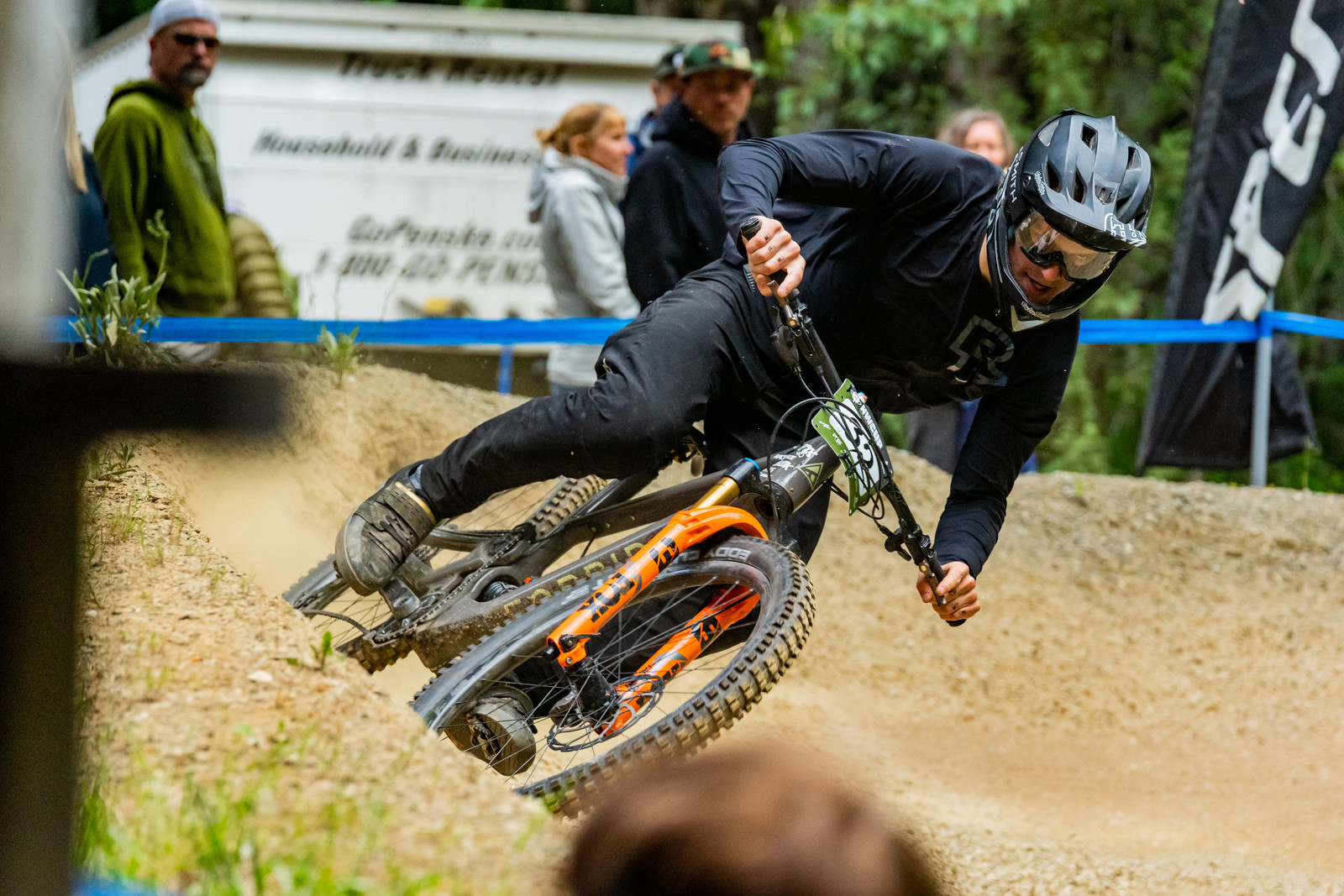 Eric Olsen rode 130 miles (plus a ferry ride) from Bellingham, WA to Port Angeles on his Forbidden Druid and then raced that bike in the Pro DH. He finished up 13th on the day. An impressive feat no doubt!