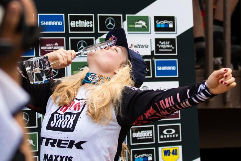 Vali Hoell tastes victory