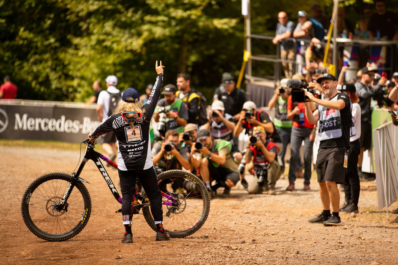 Vali Hoell won the last two races of the season to clinch the World Cup Championship