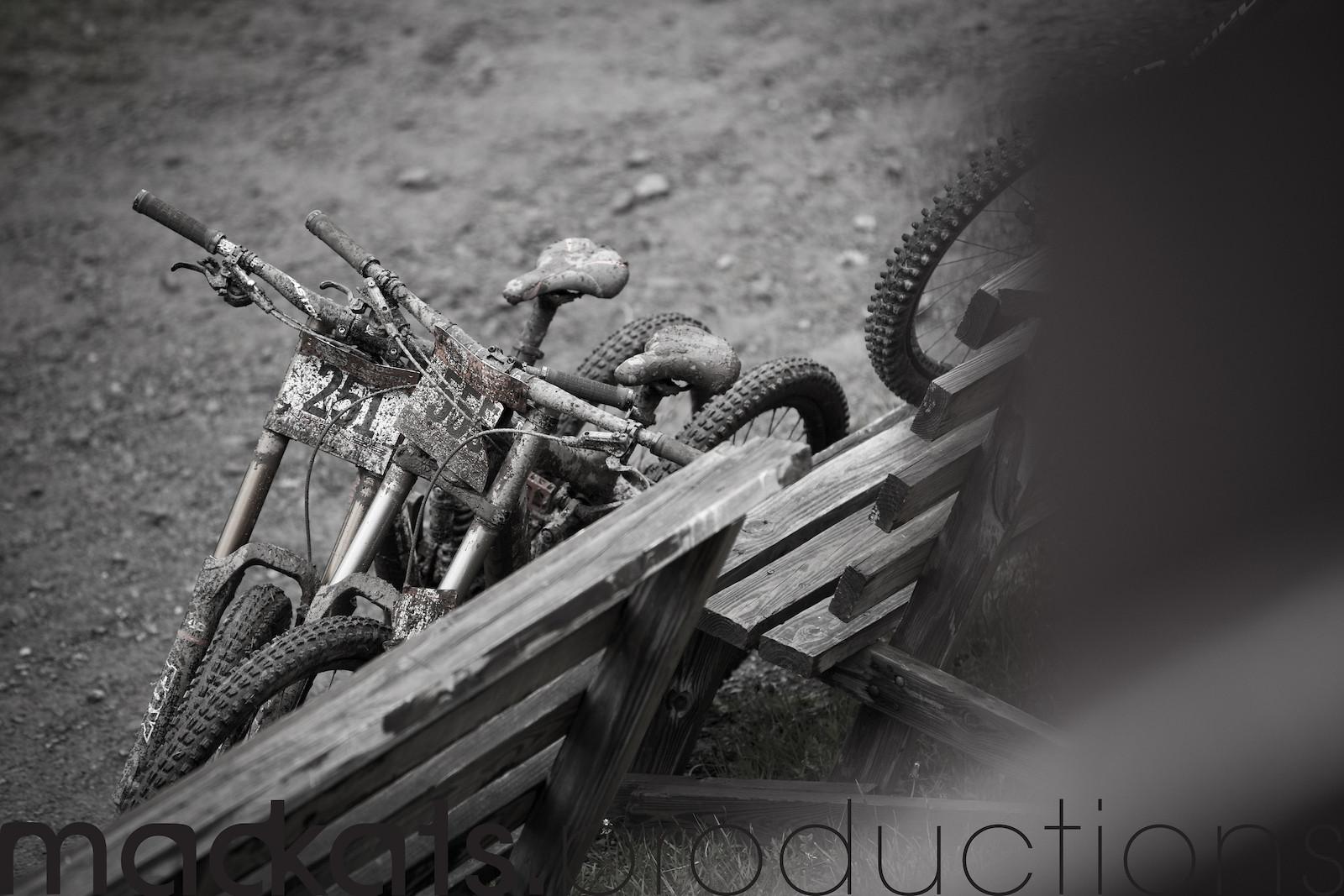 Ridden hard, put away muddy and wet.