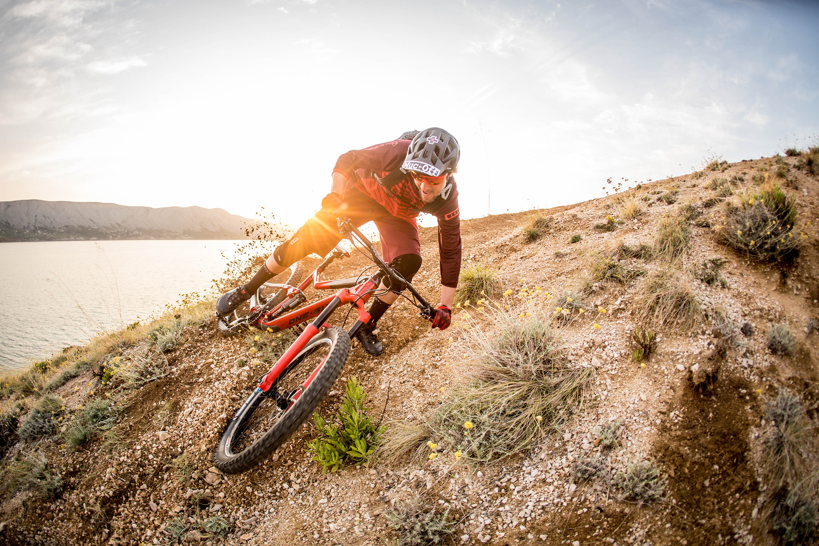 sunset drift - getting loose all the way down to the sea - Hannes Klausner - Mountain Biking Pictures - Vital MTB