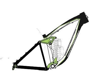 A sketch of the 2011 One Ghost Industries Musashi Frame. I should have an actual picture around March/April