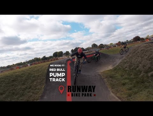 Riding the Runway Bike Park Pump Track