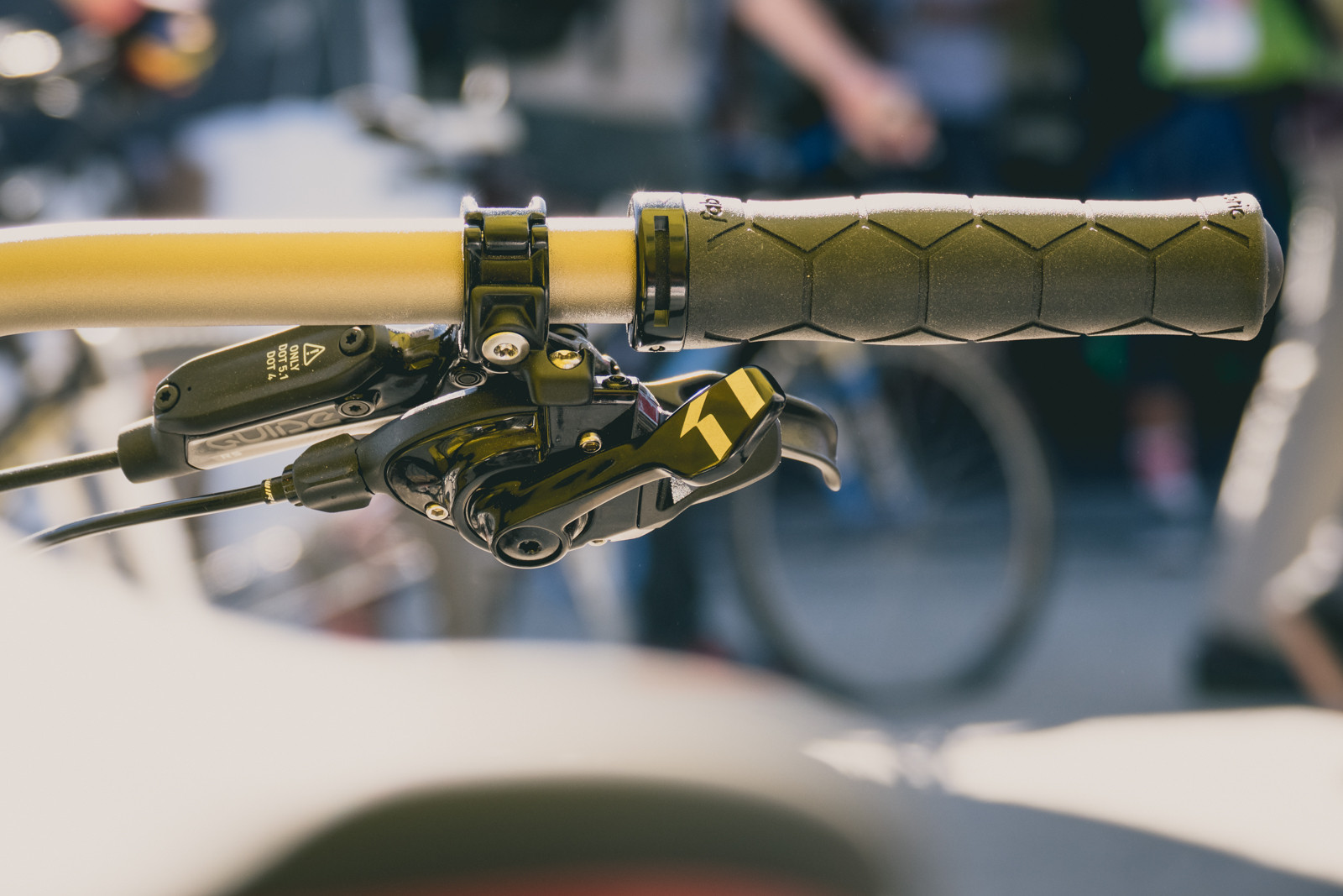 Fabric Semi-Ergo Lock-On Grips - 2016 Sea Otter Classic Pit Bits - Mountain Biking Pictures - Vital MTB