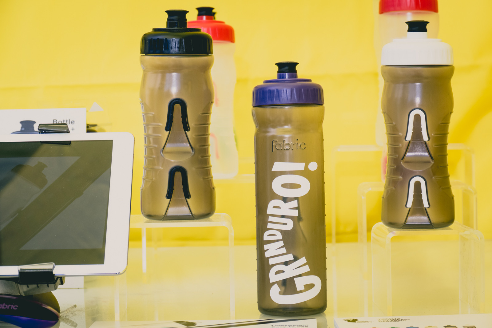 Custom Fabric Cageless Water Bottles - 2016 Sea Otter Classic Pit Bits - Mountain Biking Pictures - Vital MTB