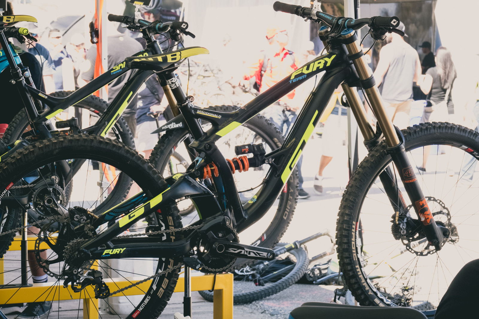Brook Macdonald's GT Fury Team Downhill Bike - 2016 Sea Otter Classic Pit Bits - Mountain Biking Pictures - Vital MTB