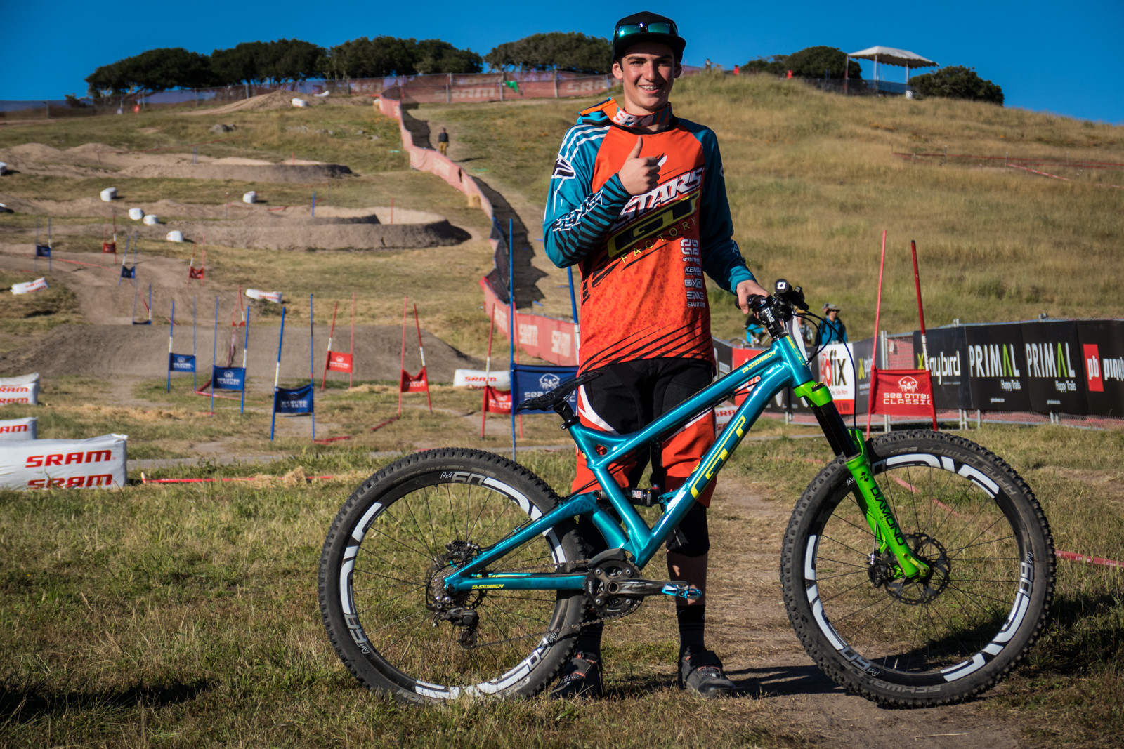 Joey Foresta's GT Distortion Dual Slalom Bike - 2016 Sea Otter Classic Pit Bits - Mountain Biking Pictures - Vital MTB