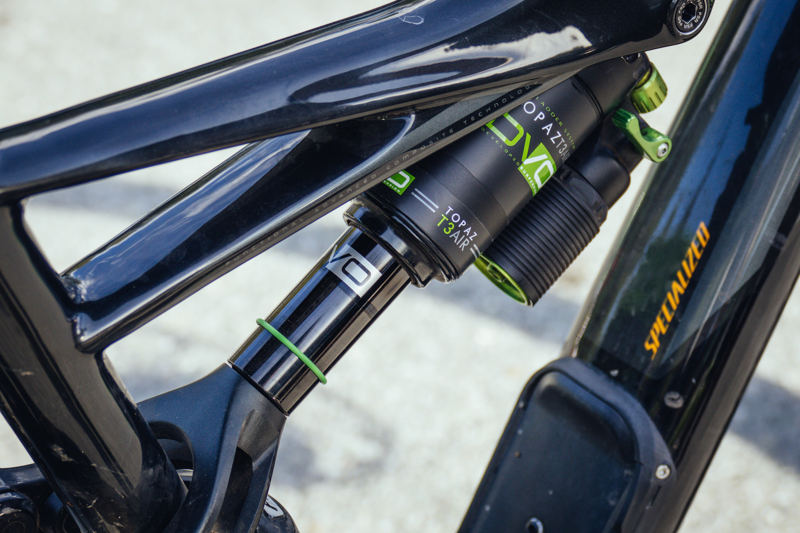 DVO Topaz T3 Air Shock for Specialized Bikes - PIT BITS - New 2017 Products from Crankworx Whistler - Mountain Biking Pictures - Vital MTB