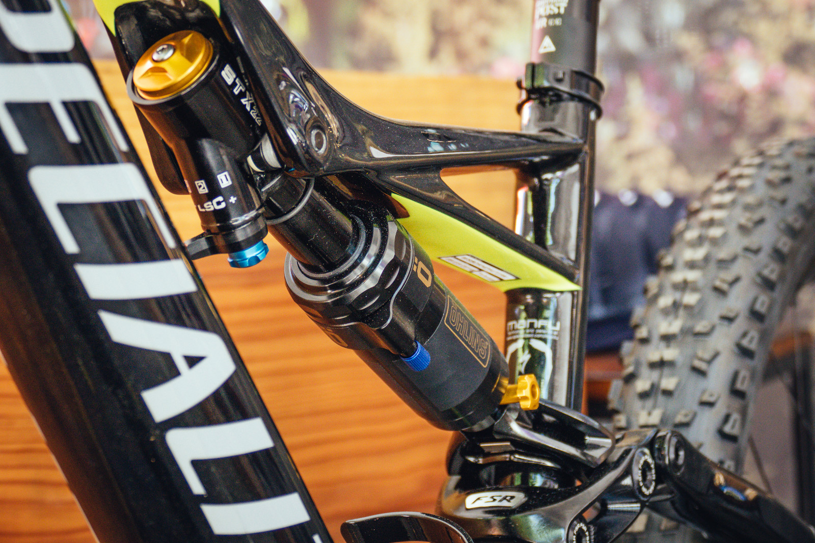 Custom Inline Öhlins STX 22 Shock - PIT BITS - New 2017 Products from Crankworx Whistler - Mountain Biking Pictures - Vital MTB