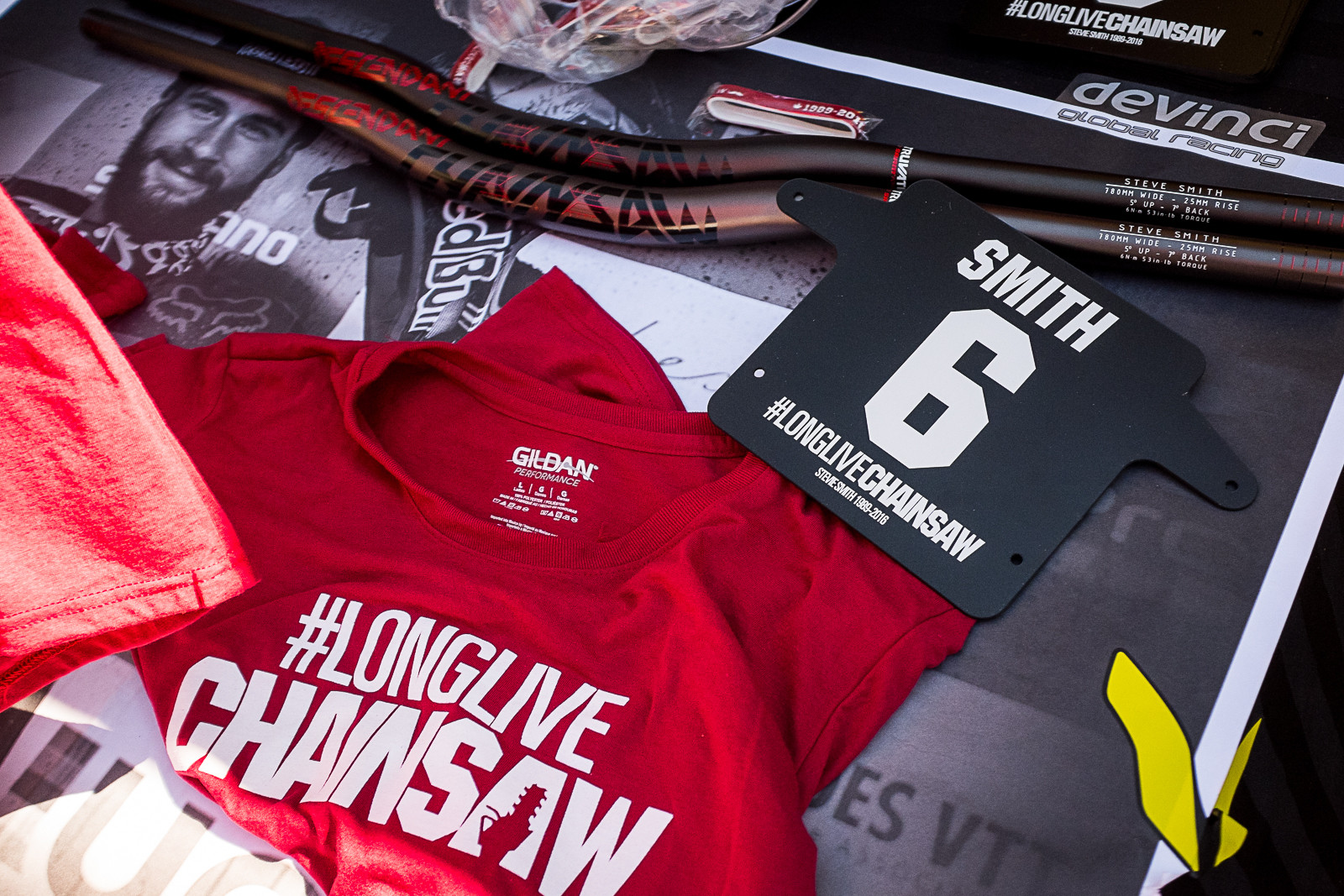 Stevie Smith Memorial Shirts, Number Plates, Handlebars, and Bracelets - PIT BITS - New 2017 Products from Crankworx Whistler - Mountain Biking Pictures - Vital MTB