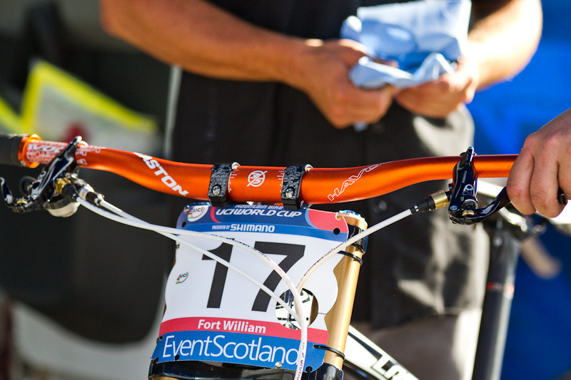 Prototype Easton Direct Mount Stem - Pits Bits: 2011 Fort William World Cup - Mountain Biking Pictures - Vital MTB