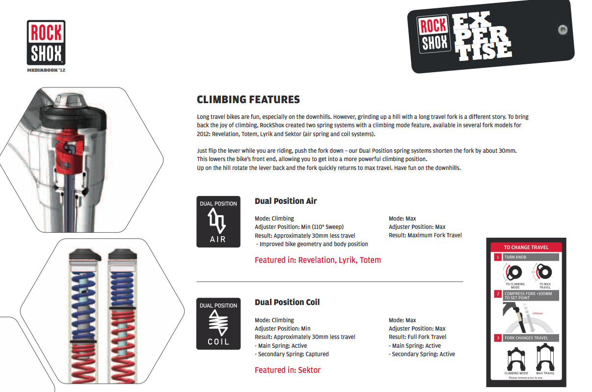 Dual Position Climbing Features - 2012 RockShox AM, DH, and DJ Products - Mountain Biking Pictures - Vital MTB