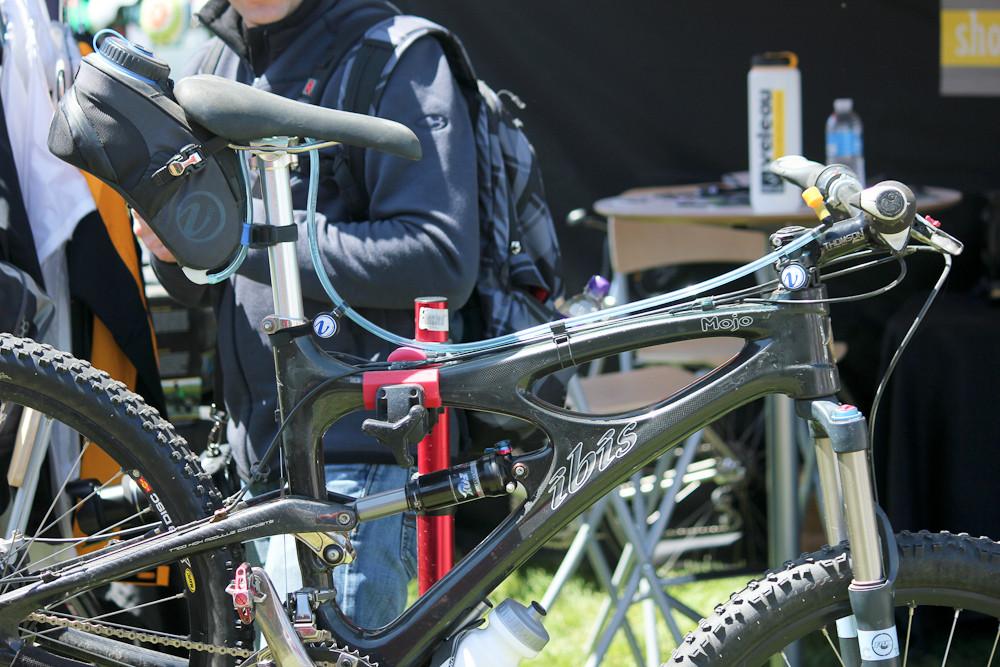 Veleau Bike Mounted Hydration System - Sea Otter Classic Pit Bits - Day 4 - Mountain Biking Pictures - Vital MTB