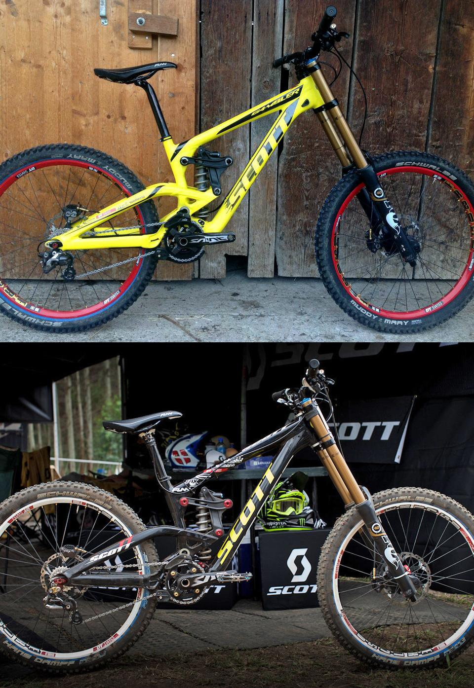 New and Old Scott Gambler Prototypes - Brendan Fairclough's Updated Scott Gambler Prototype - Mountain Biking Pictures - Vital MTB