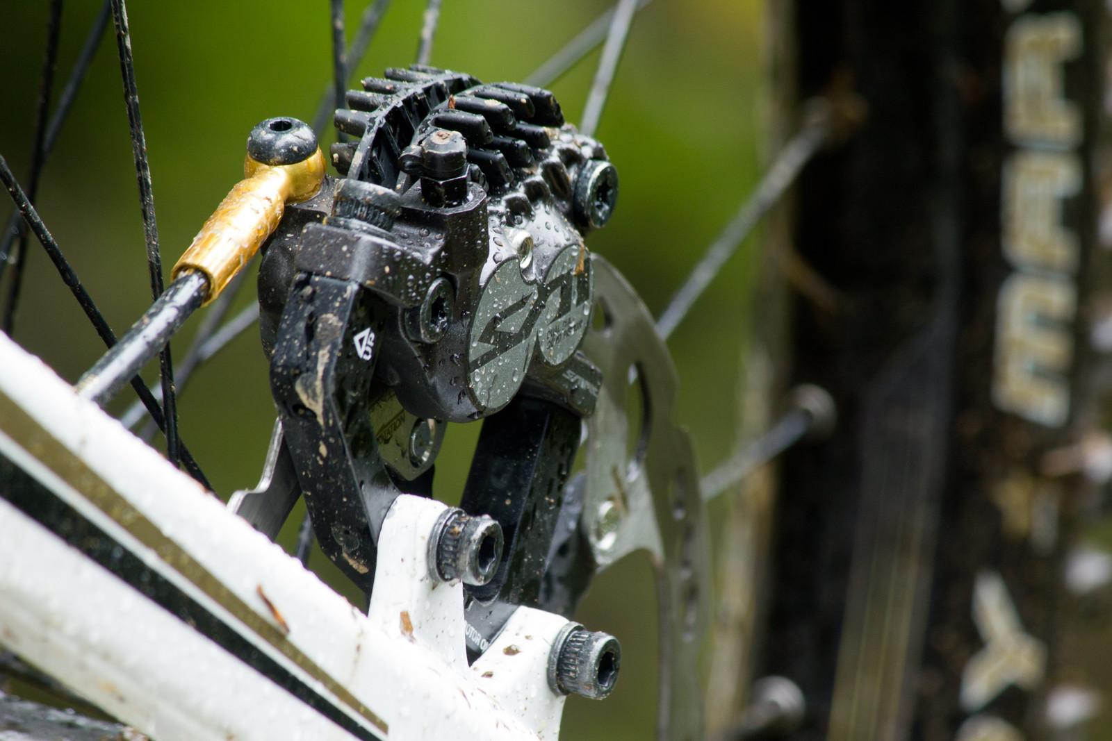 Shimano Saint M820 Brake Caliper - First Look: Vital's Pre-Production Shimano Saint Equipped V-10 Carbon - Mountain Biking Pictures - Vital MTB