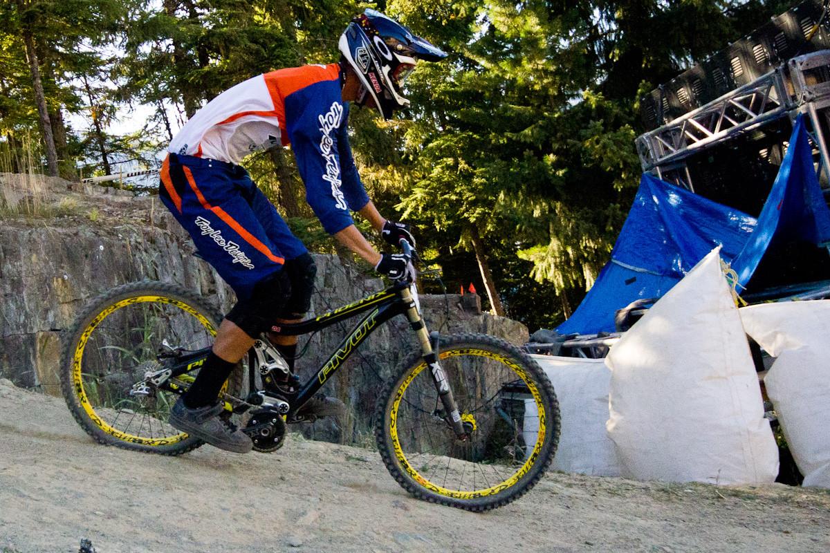 Kyle Sanger's Pivot Phoenix  - The G-Out Project: Crankworx Air DH 2012 - Mountain Biking Pictures - Vital MTB