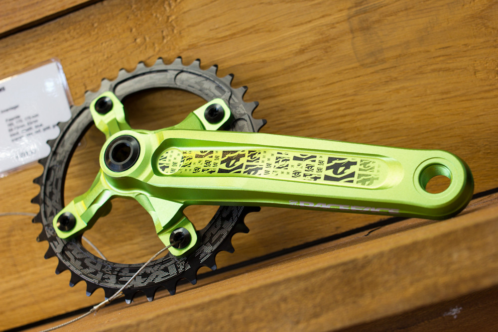 Limited Edition Green Monster Race Face Atlas Cranks - 2013 Mountain Bike Components at Eurobike 2012 - Mountain Biking Pictures - Vital MTB