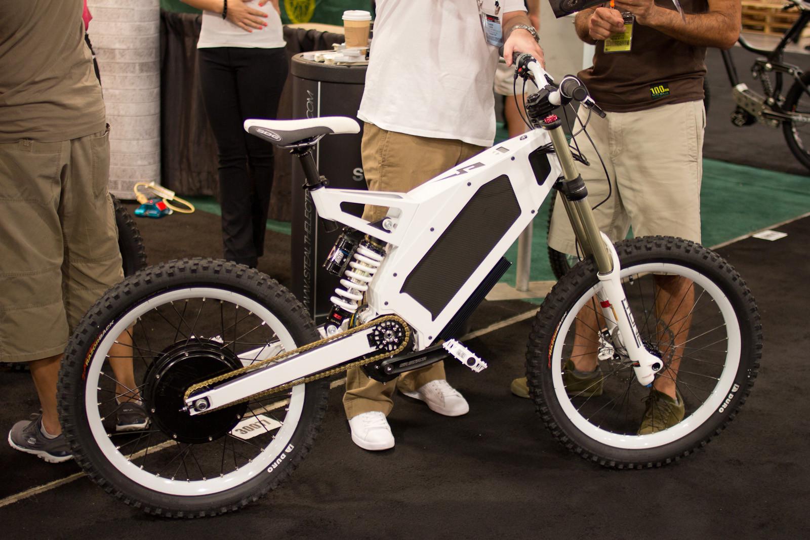 Robo Cop's E-Bike - Random, Wacky, and Weird from Interbike 2012  - Mountain Biking Pictures - Vital MTB