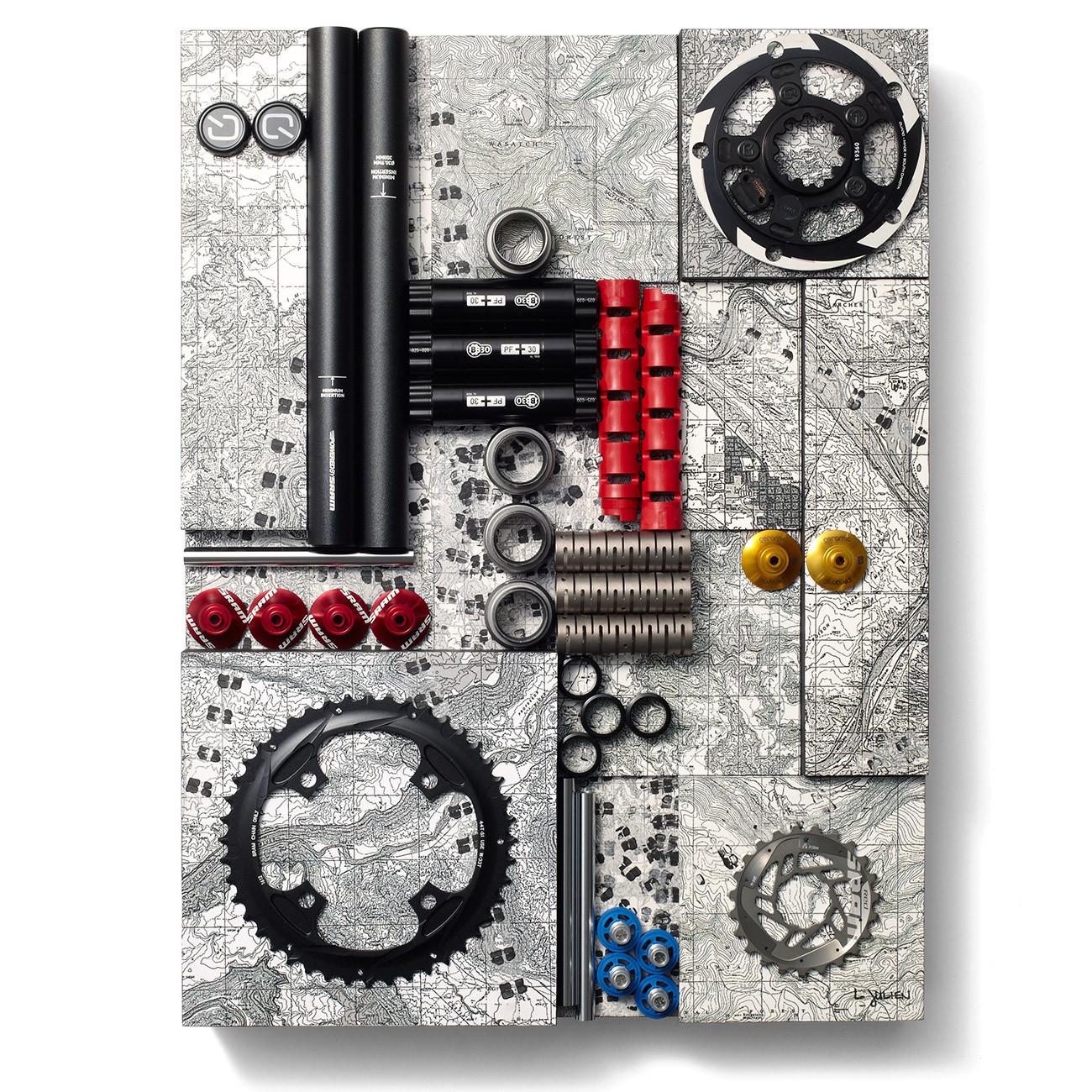 #6: Make Tracks by Liza Julien - Art From Bike Parts? Vital MTB's 10 Favorite SRAM pART PROJECT Pieces - Mountain Biking Pictures - Vital MTB