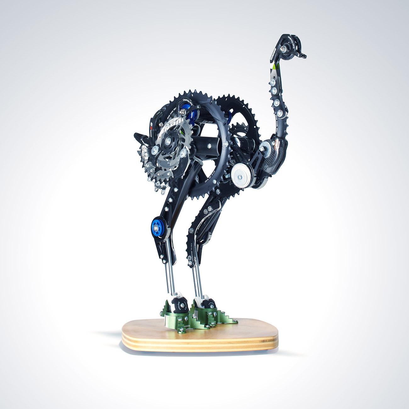 #9: Ostrich by Rob Millard-Mendez  - Art From Bike Parts? Vital MTB's 10 Favorite SRAM pART PROJECT Pieces - Mountain Biking Pictures - Vital MTB