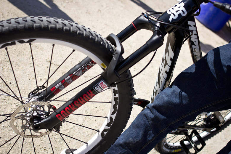 Cam Zink's Revelation Fork and Geax Goma Tire - Sea Otter Classic